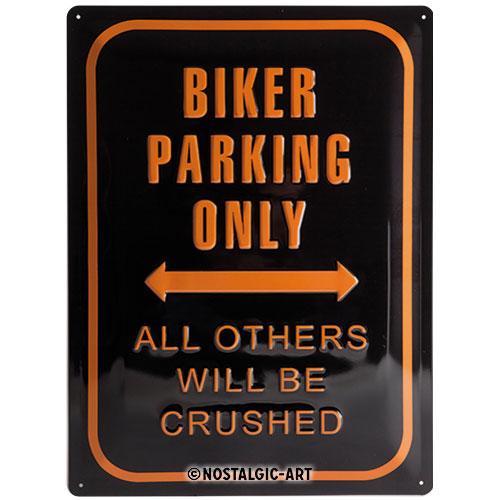 Blechschild-30x40-Biker-Parking-Only