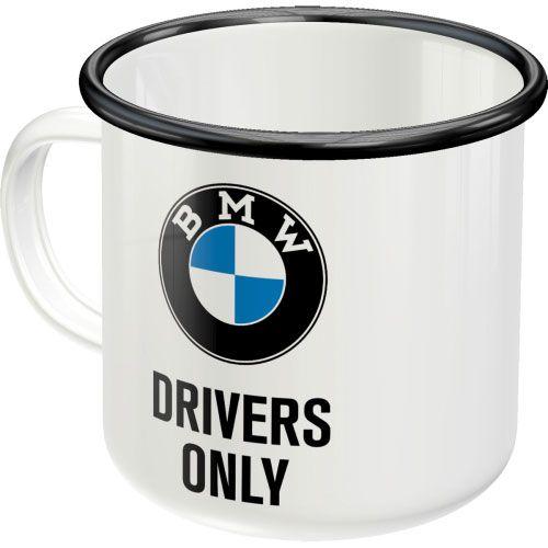 Emaille-Becher-BMW-hinten