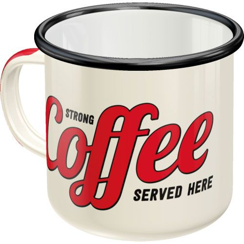 Emaille-Becher-Strong-Coffee-hinten